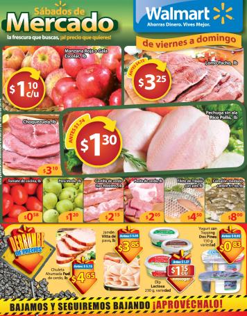 Sabados de Mercados FRESCURA al mejore precio WALMART sv - 28mar14