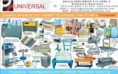 maquinas empacadoras UNIVERSAL guatemala - 31mar14