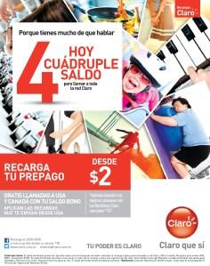 ofertas promociones descuentos saldo CLARO hoy - 09mar14