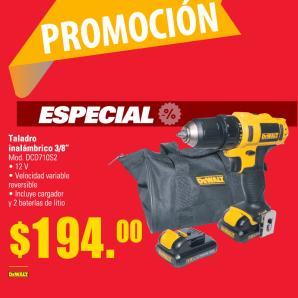 promocion especial taladro deWalt