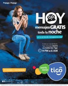 promociones TIGO el salvador habla GRATIS toda la noche - 13mar14