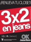 OK jeans store promotion 3x2 - 25abr14