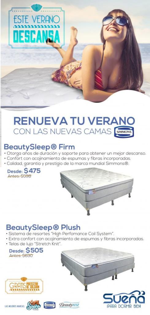 este verano DESCANSA renuevate con las nuevas camas SIMMONS - 09abr14