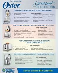 licuadoras OSTER gourmet collection