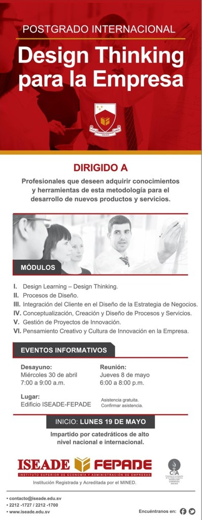postgrado INTERNACIONA Design Thinking