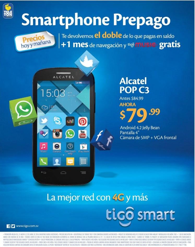 precios hoy y mañana SMARTPHONE ALCATEL - 21abr14