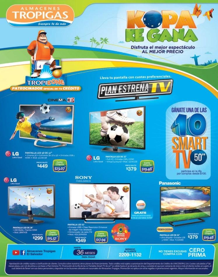 Almacenes Tropigas RIFA 10 smart TV de 50 pulgadas - 14may14