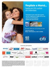 CITIBANK promotion mothers day - 07may14