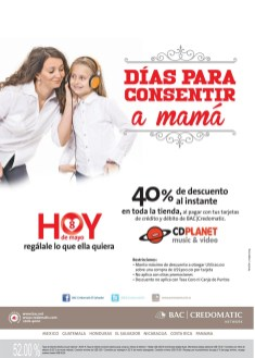 Dias para consenir a mama gracias BAC credomatic - 08may14