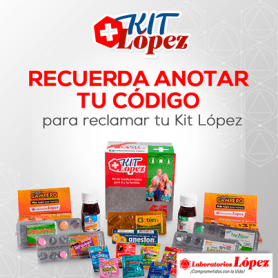 KIT de medicamentos GRATIS Laboratorios Lopez el salvador - 22may14