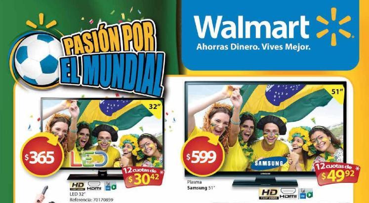 La mejor TV para el mundial la tiene WALMART mayo 2014