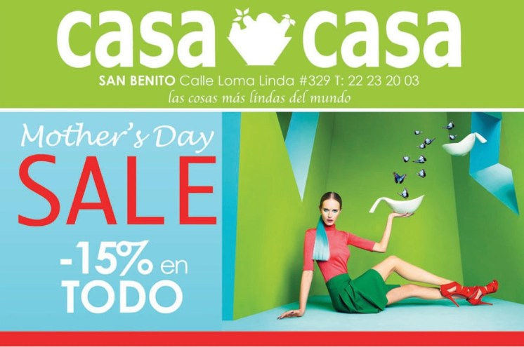 Mothers DAY sale discounts all store CASA CASA - 08may14