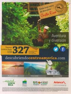 Paquetes turisticos COSTA RICA aventura y diversion AVIANCA