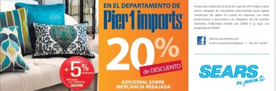 Pier 1 IMPORTS products SEARS el salvador - 23may14