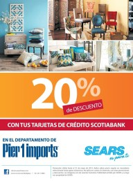 Pier 1 imports credit card DAVIVIENDA discounts - 16may14