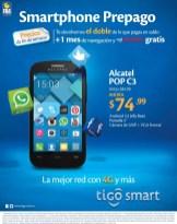 Rebajado smartphone ALCATEL POP C3 ofertas tigo - 16may14