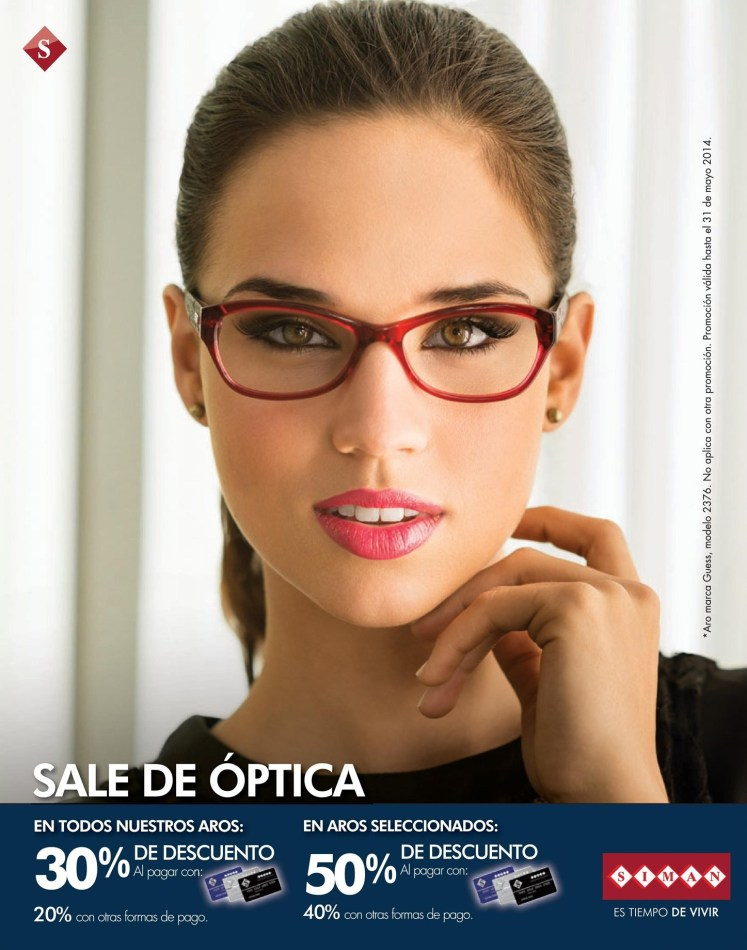 SALE de OPTICA descuentos SIMAN el salvador - 15may14