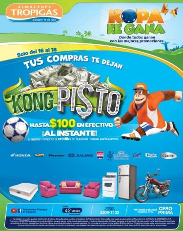 Tus compras te dejan KONG PISTO promociones tropigas - 16may14
