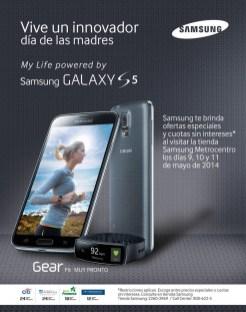 Vive un innovador dia de las madres SANSUNG galaxy s5 GEAR fit