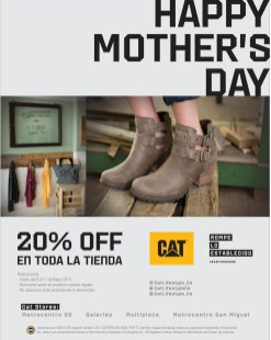happy mothers day DISCOUNT all store CAT - 09may14