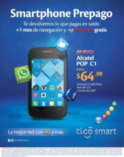 nuevo smartphone ALCATEL POP C1 android - 19may14