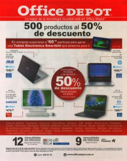 office depot 500 productos al 50% OFF de descuento - 15may14