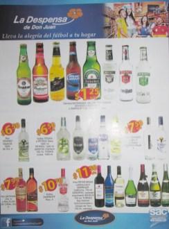 variedad en VINOS licores cervezas para vivir el mundial 2014