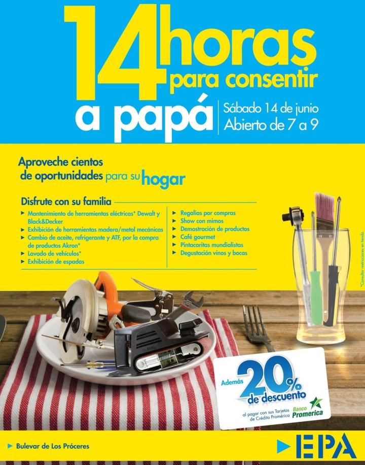 14 horas para consentir a PAPA gracias a EPA el salvador - 13jun14