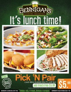 BENNIGANS its lunch time PROMOCIONES - 10jun14