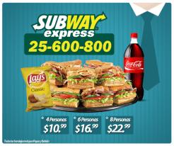Bandeja de SUBWAY Express a domicilio