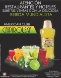 Bebida Mundialista AMERICAN CLUB CAIPIROUSKA