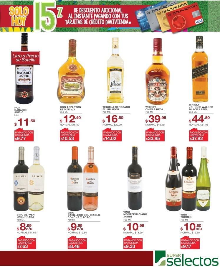 Bebidas alcoholicas OFERTAS de super seectos el salvador - 17jun14