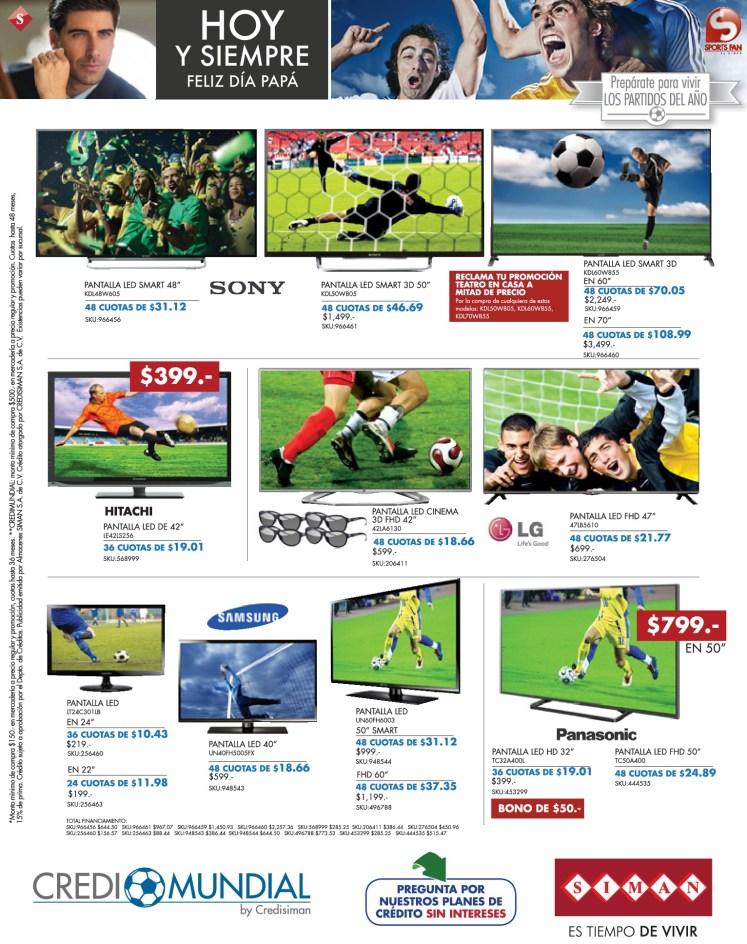 CREDI MUNDIAL para comprar pantalla LED SIMAN - 06jun14