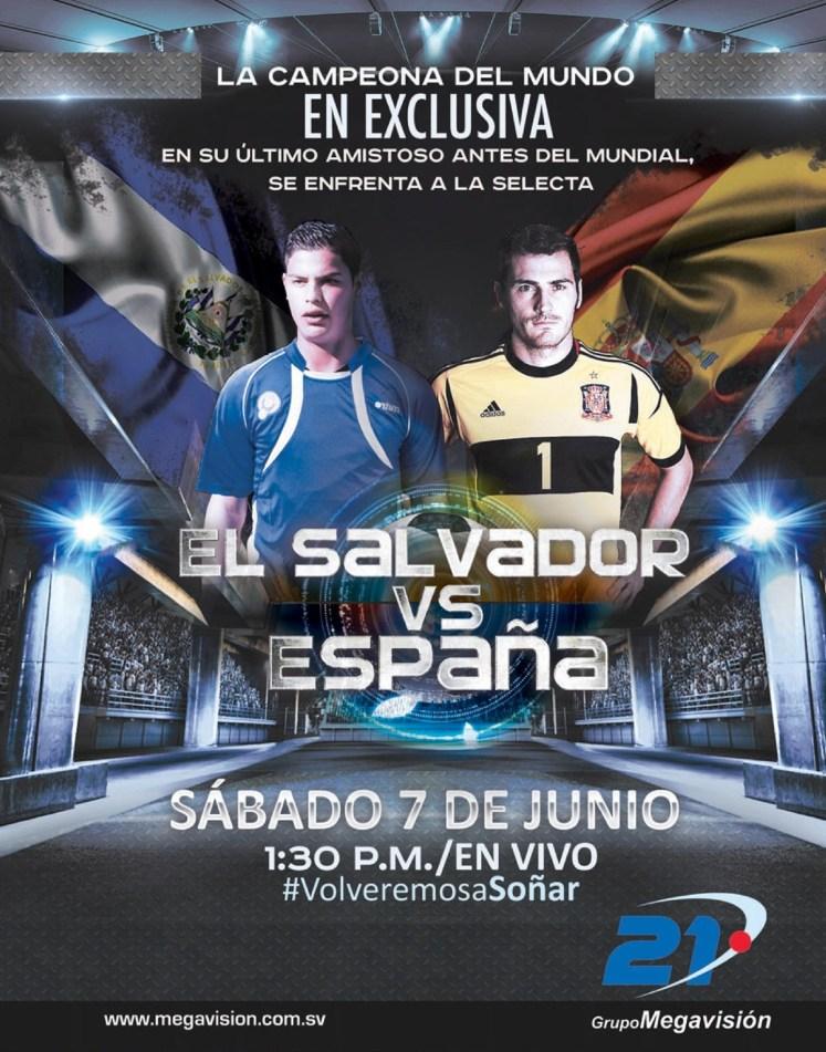 El Salvador vs España 2014
