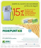El gusto de ahorro DESCUENTO en gasolina - 19jun14