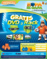 GRATIS reproductor DVD y RACK por tus compras JUNIO 2014