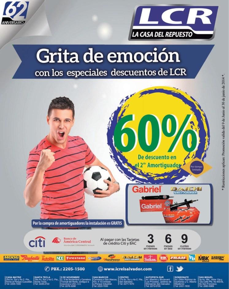 GRITA de emocion las promociones y descuentos LCR - 09jun14