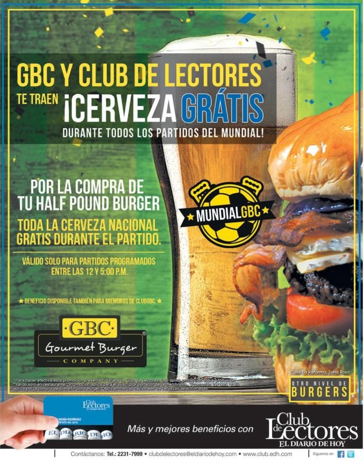 Gourmet company BURGER te da CERVEZA GRATIS - 27jun14
