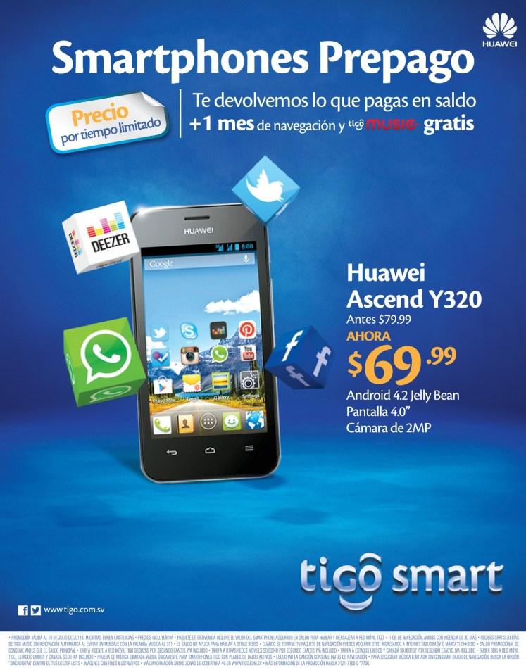 Huawei Ascend Y320 tigo smart savings - 30jun14