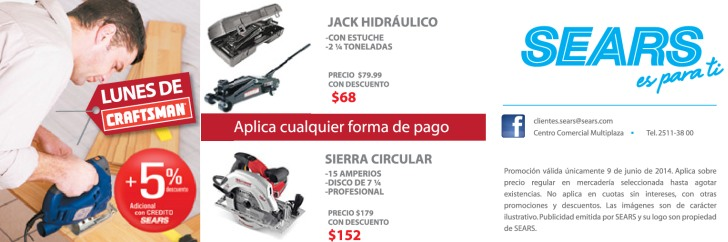 Jack Hidraulico DISCOUNTS sears tools - 09jun14