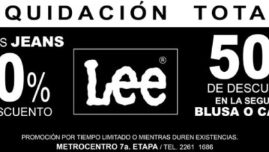 Liquidacion TOTAL JEANS lee - 18jun14