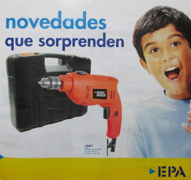 Novedades que sorprendes a PAPA ferrteria EPA el salvador - jun14