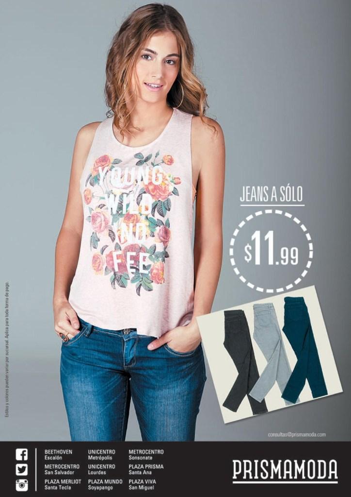 Oferta JEANS prisma moda el salvador - 25jun14