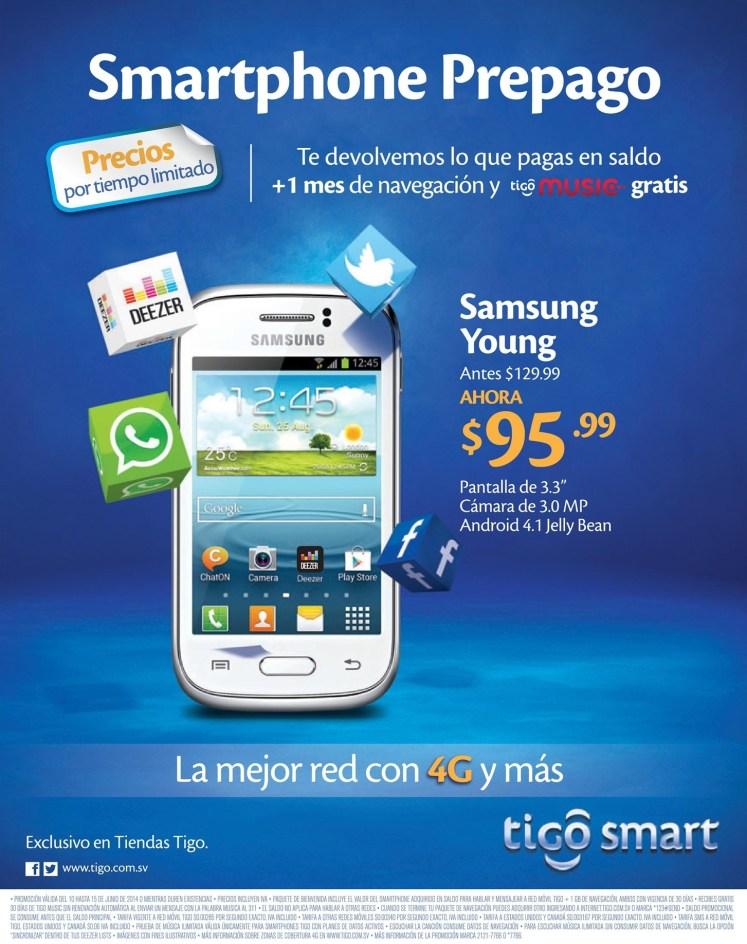 Oferta SAMSUNG young TIGO redes sociales - 10jun14