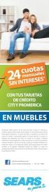 Quieres cambiar tus muebles SEARS promociones - 28jun14