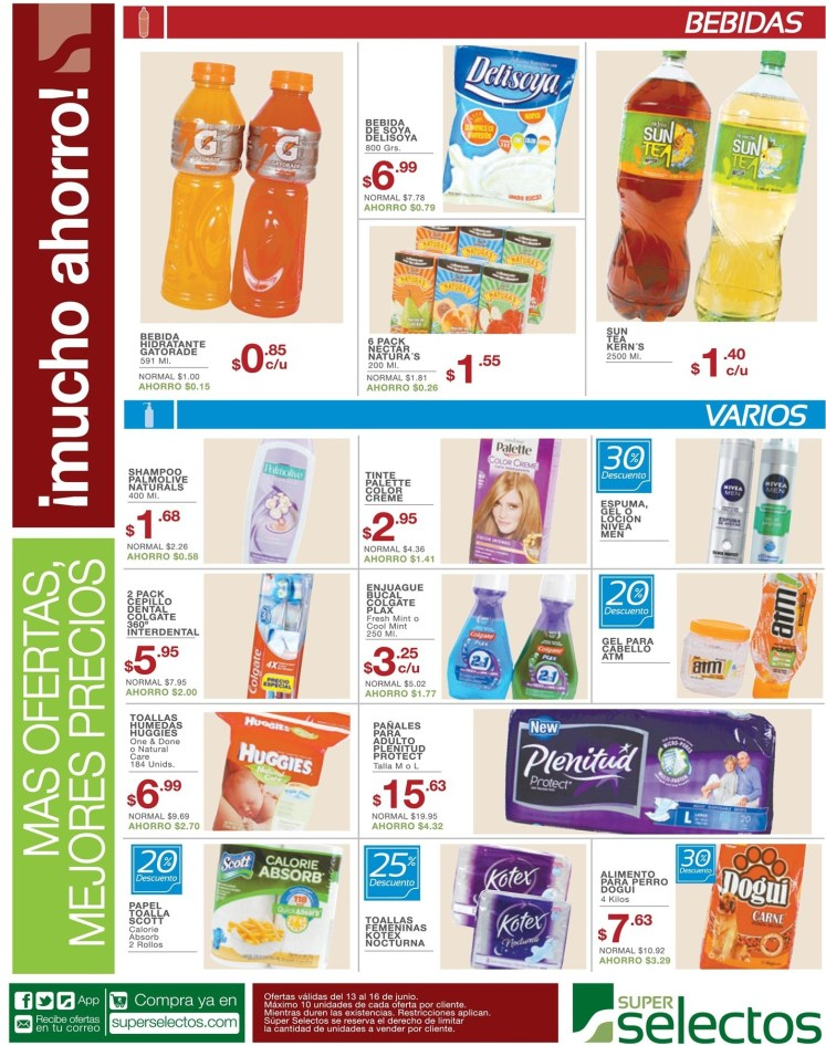 Refrescate con estas SUPER OFERTAS selectos el salvador - 13jun14