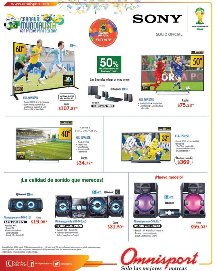 SONY world cup products promotions and savings - 23jun14
