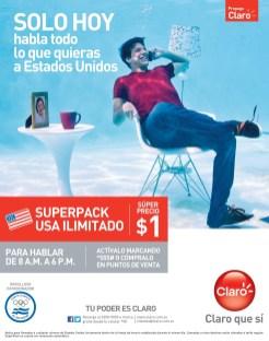 Superpack USA ilimitado gracias a CLARO sv - 25jun14