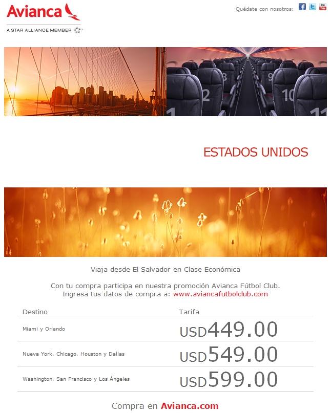 VIAJES a Estados Unidos en clase economica - 06jun14