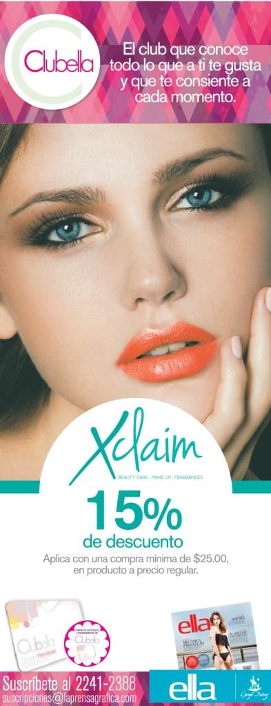 XCLAIM discount gracias a CLUB ELLA - 25jun14